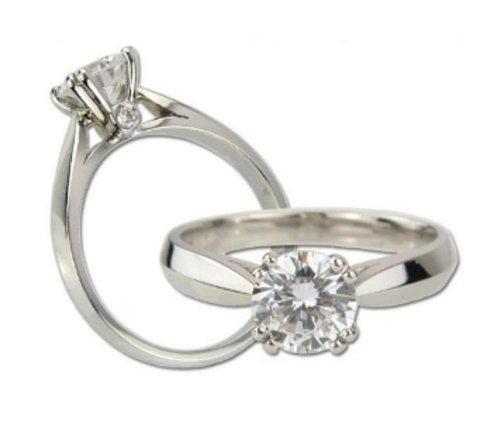 Platinum Plated Cubic Zirconia CZ Engagement Promise Ring Size 9