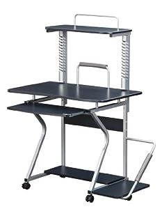 Amazon.com : Sergeant Compact Computer Desk on Wheels in Graphite