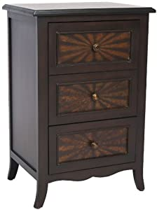 Safavieh American Home Collection Minster Brown 3-Drawer End Table
