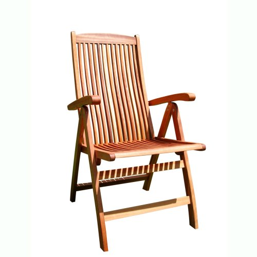 vifah outdoor wood arm chair patterned back v187 the