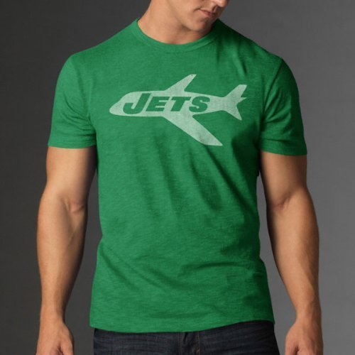 Nfl New York Jets Men'S '47 Brand Scrum Basic Tee, Kelly, Xx-Large front-935309