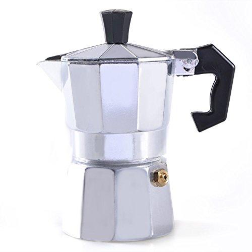 Michelle Queen 1 Cup (50ml) Stovetop Espresso Moka Pot Silver (One Cup Espresso Maker compare prices)
