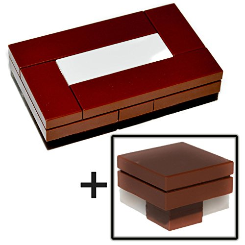 LEGO Furniture: Custom Brown Seating Collection - Includes Coffee Table, Side Table & Standing Lamp