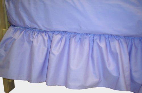 Imagen de American Baby empresa 100% algodón percal Ruffle Skirt Cuna, Lavanda