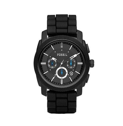 Fossil Men's FS4487 Black Silicone Bracelet Black