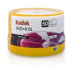 Kodak 50121 Double Layer DVD+R DL