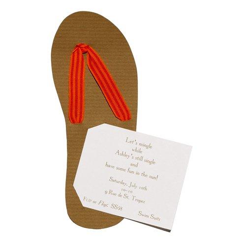 Flip Flop Die-Cut Card, Pack Of 10 front-874306