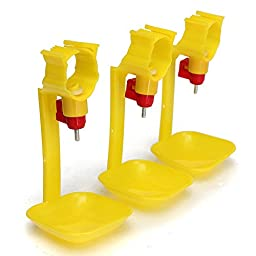 Dealglad® 10 pcs Automatic Poultry Chicken Nipple Drip Cup Drinker Waterer