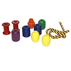 Jumbo Lacing Beads Classic Made in USA Wood Toy