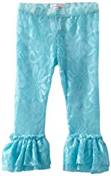 Mud Pie Baby Girls\' Lace Legging, Aqua, 12 18 Months