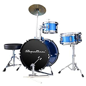 Spectrum AIL 660B Three Piece Junior Drum Kit in Electric Blue