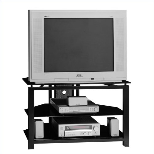 Bush Furniture 36 Inch Wood TV Stand in Black photo B000IK5Q3I.jpg