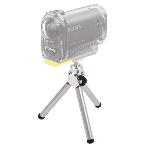 DURAGADGET Portable Lightweight Aluminium Tripod with Sturdy Collapsible Legs for Sony HDR-PJ330, Sony HDR-AS10, Albrecht Mini DV 100 WP wasserdichte Action Kamera, Emerson HD Action CAM EVC455 & Sony DSC-HX400 / HX400V (Emerson Action Cam Digital Video compare prices)