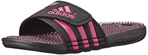 Adidas Performance Women'S Adissage Fade W Athletic Sandal, Core Black/Intense Pink Black, 9 M Us front-474969