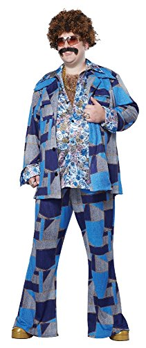 California Costumes Men's Plus-Size Boogie Nights 70's Disco Costume In Plus