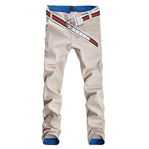 Jeansian Moda Pantaloni Casual Uomo Slim Tendenze J210 Khaki W28