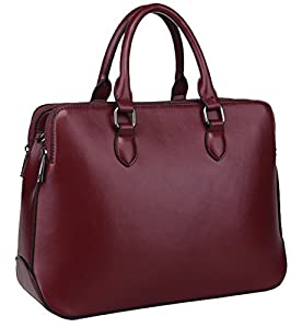 Heshe 2014 New Genuine Leather Double Zippered Tote Top-handle Cross Body Shoulder Bag Handbag Purse for Women