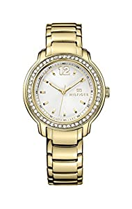 Tommy Hilfiger Callie Women's Quartz Watch with Silver Dial Analogue Display and Gold Stainless Steel Gold Plated Bracelet 1781467