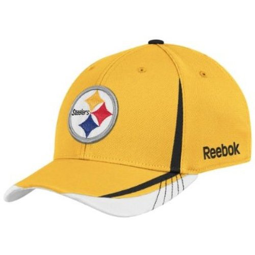 NFL Pittsburgh Steelers Sideline Flex-Fit Draft Hat, Yellow, Small/Medium at Amazon.com