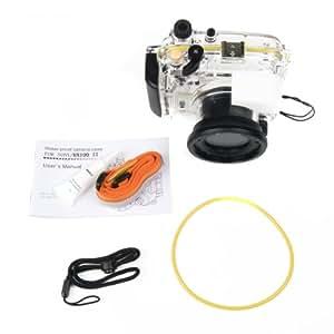 Caisson étanche Waterproof Bag Case 40m 130ft Pour Sony DSC-RX100 II M2 lf267