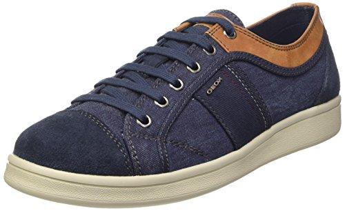 Geox U Warrens A Scarpe Low-Top, Uomo, Blu (Navy), 40