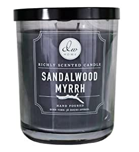 dw home sandalwood myrrh scented large 2 wick candle by decorware home kitchen. Black Bedroom Furniture Sets. Home Design Ideas
