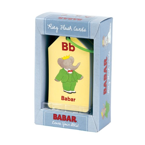Mudpuppy Babar Learn Your ABCs! Ring Flash Cards