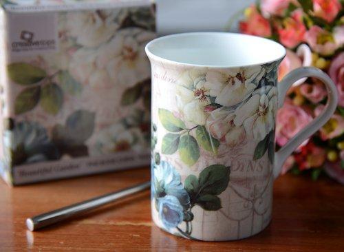 Beautiful Garden Fine Bone China Mug In A Gift Box