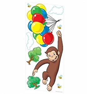 Curious george giant peel stick wall decals for Curious george giant wall mural