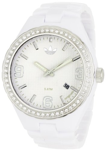 Adidas Women's Cambridge ADH2505 White Plastic Quartz Watch with White Dial