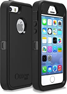 iPhone 5S Case- OtterBox Defender Case for iPhone 5/5S- Black (Frustration-Free Packaging)(Works with TouchID)
