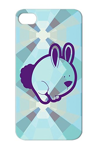 Tpu Purple Protective Hard Case For Iphone 4S Anti-Scratch Children Kids Wildlife Baby Animals Nature Bunny Rabbit Cute Animal Toddler Hop front-440445