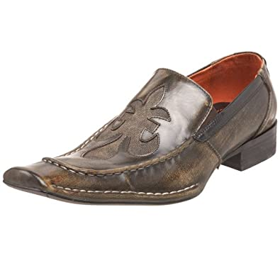 robert wayne s motley slip on brown 8 m shoes