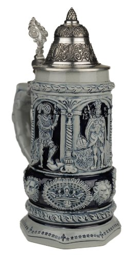 Thewalt by King Stein Of Kings Full Relief Authentic German Beer Stein