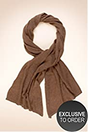 Cashmere Rich Brioche Stitch Metallic Oversized Scarf