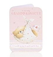 A New Baby Bear Granddaughter Card
