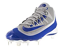 Nike Men s Huarache 2KFilth Pro Mid Baseball Cleat Wolf Grey/Game Royal/White 9.5 D(M) US