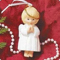 Hallmark 1995 Ceramic Ornament Bell - JOY Angel by Hallmark