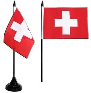 Digni® Drapeau de table Suisse, mini drapeau - 10 x 15 cm