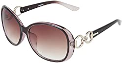 Omnesta Women's Oval Sunglasses (Brown) (PD021)