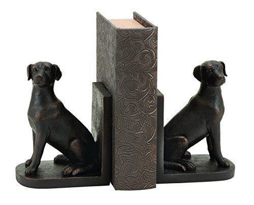Deco 79 Library Polystone Dog Bookend Set, 8 by 6-Inch