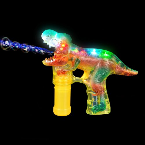 T-REX Led Bubble Blower Gun, Sound Bubble Saurus Dinosaur Raucous Sounds - 1