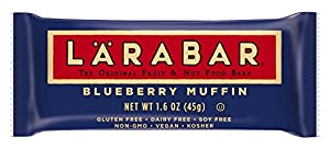 LARABAR Fruit & Nut Food Bar, Blueberry Muffin, Gluten Free, 1.6 Oz., (Pack of 5)