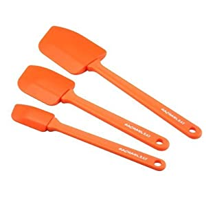 2 X Rachael Ray 3-Piece Spatula Utensil Set, Orange