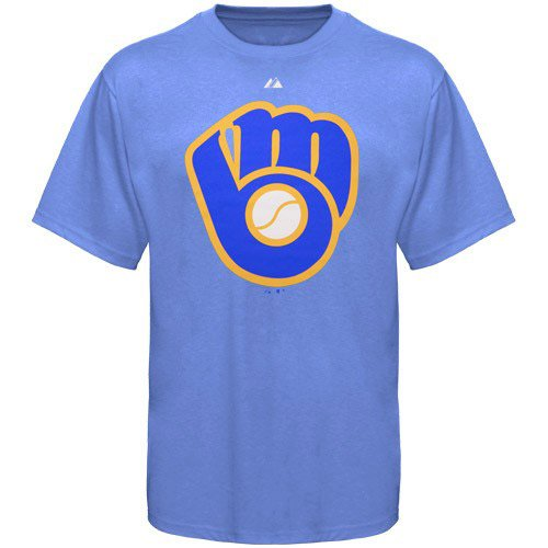 Milwaukee Brewers Cooperstown Throwback Official Logo T-Shirt