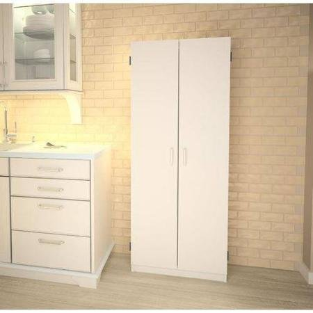 Double Pantry | White | Concealed Storage Behind Two Doors (Assembled Kitchen Cabinets compare prices)