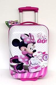Reisekoffer trolley hartschale disney minnie mouse fahrrad abs 2 r der koffer 30x48x20 m dchen - Pool hartschale ...
