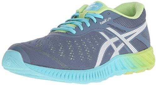 ASICS Women's Fuzex Lyte Running Shoe,Blue Mirage/White/Sharp Green,8.5 M US
