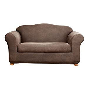 Amazon Sure Fit Stretch Leather 2 Piece Sofa