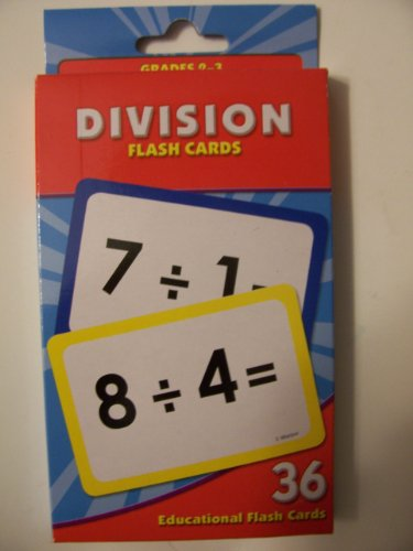 Educational Flash Cards ~ Division (36 Flash Cards; Grades 2-3) - 1
